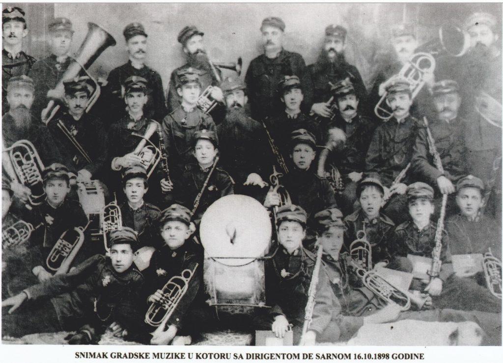 Gradska muzika Kotor 16. 10 1898.