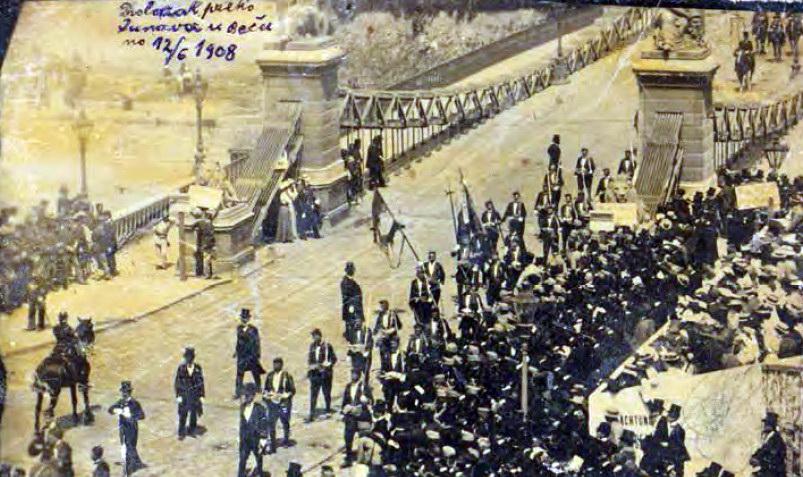 Bokeljska mornarica u Beču 1908.