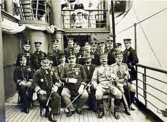 Kralj Nikola u uniformi-austrijskog-časnika-1912-brod-Gea-u Boki Kotorskoj-foto Povijesni i Pomorski muzej Pula
