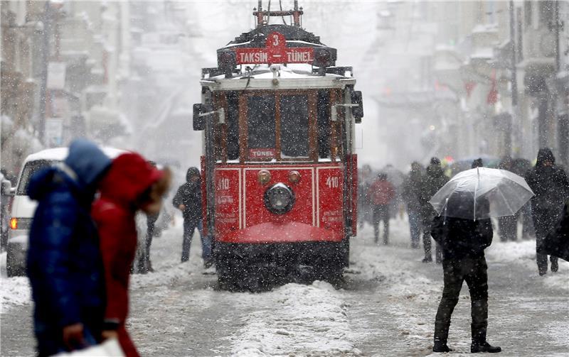 Istanbul, Turkey, 07 January 2017. foto - EPA/SEDAT SUNA