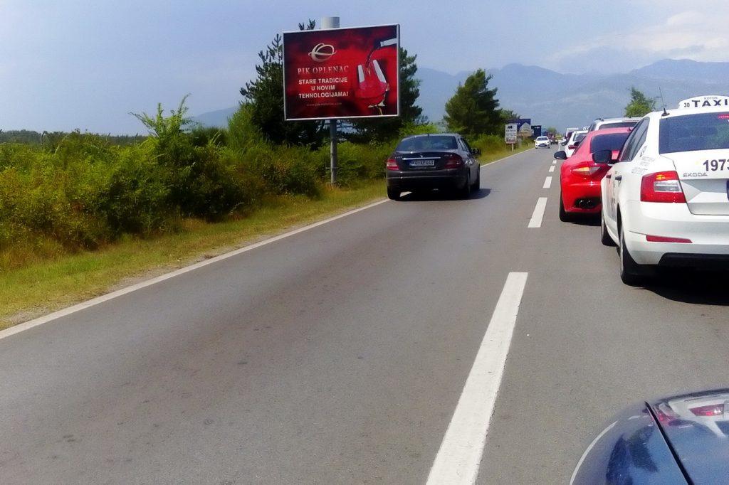 Jadranska magistrala kod aerodroma Tivat